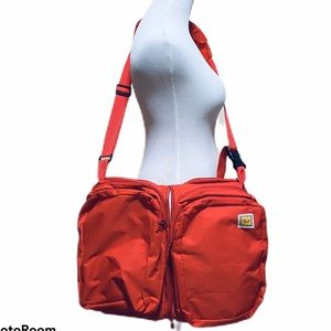 The Nap Sac Lilly Gold 3 -1 Diaper Bag Red